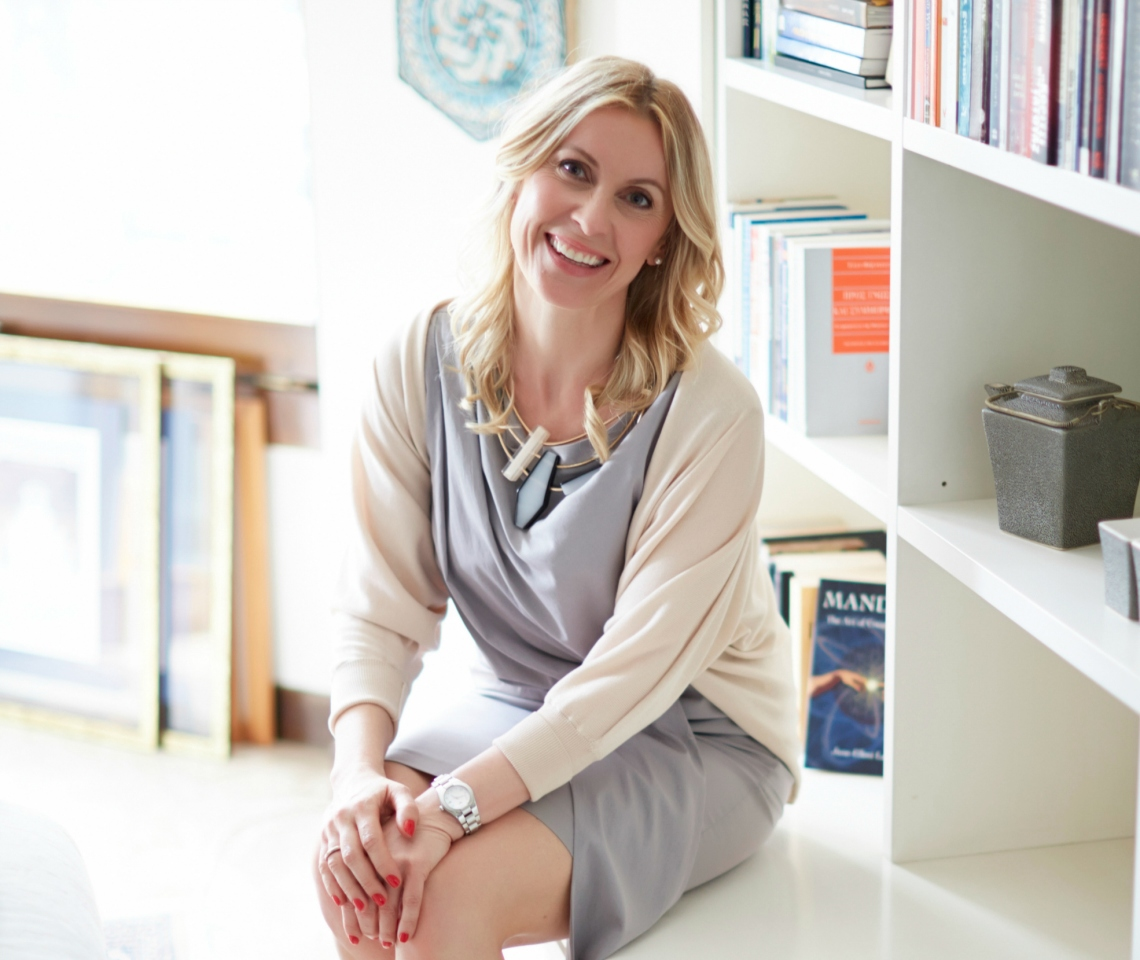 sitting on the bookshelves, smiling_nice crop